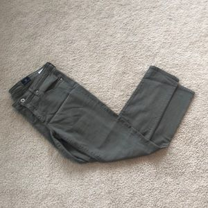 Olive green AG jeans , size 29r